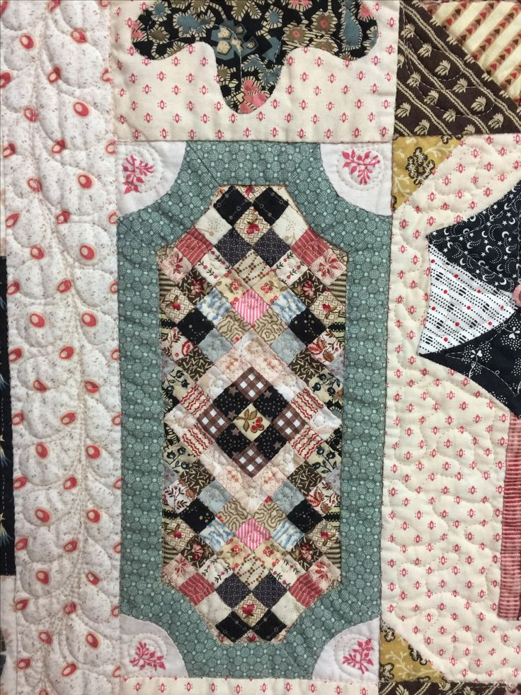 Some appliqued and hand pieced  blocks from the 1797 Sundial quilt