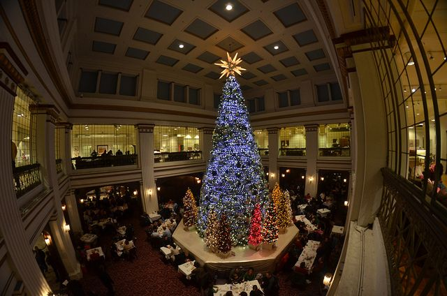 Walnut Room at Macy's in Chicago Christmas Tree by Michael Kappel,