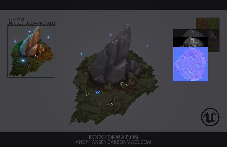 ArtStation - Rock Formation Diorama, Andy Hansen