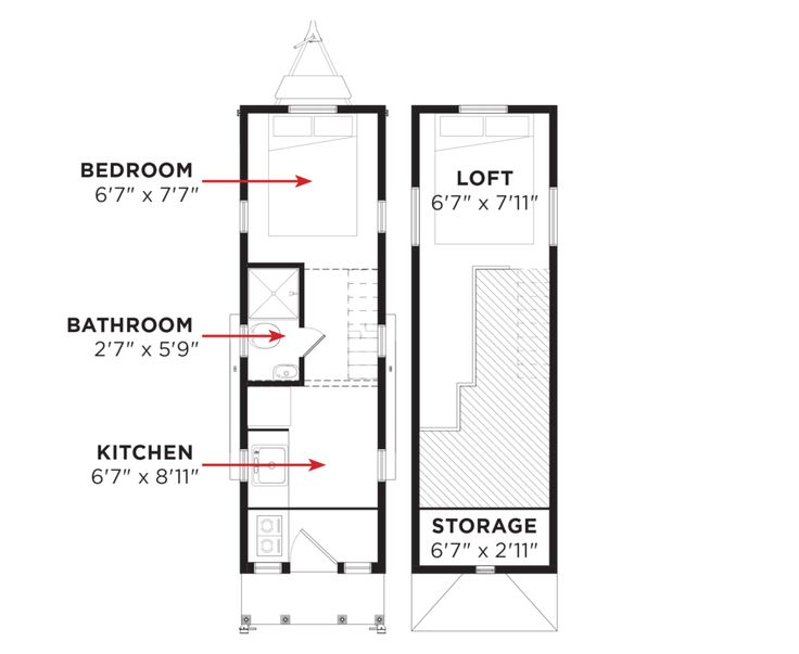 478 best images about tiny house ground floor bedroom on for Tumbleweed floor plans
