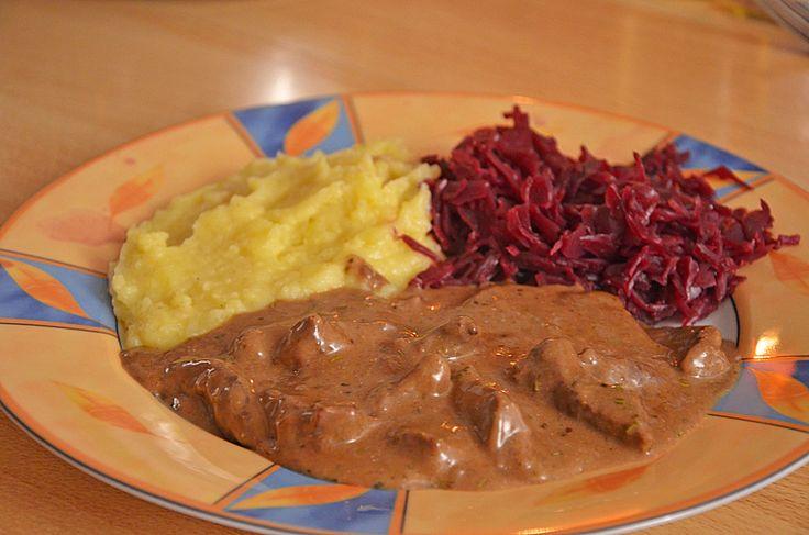 Rindergeschnetzeltes mit Rosmarin-Balsamico-Sahnesauce 4