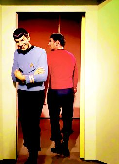 My favorite thing is the fact that cool logical Spock has.... Dimples!!!! So precious hahaha