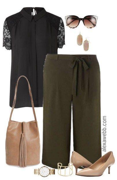 Plus Size Work Outfit - Plus Size Culottes - Plus Size Fashion - alexawebb.com