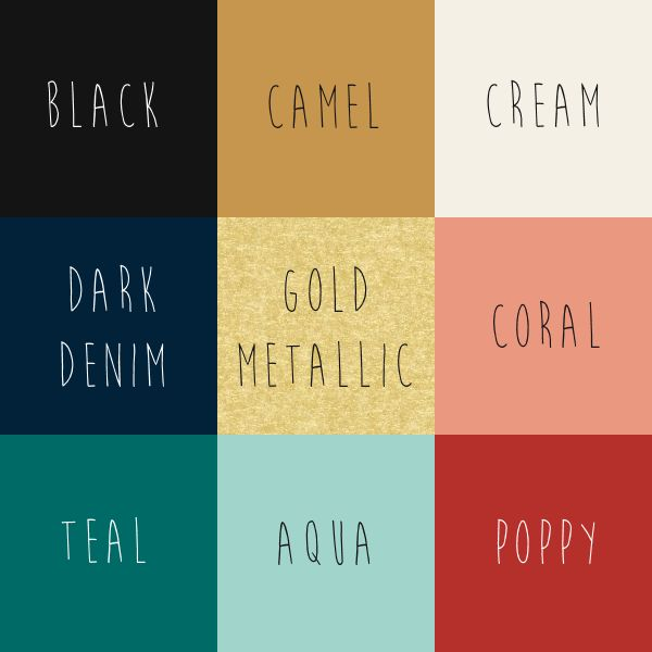 Fall 2015 Capsule Wardrobe Colors - Climbing the Willow