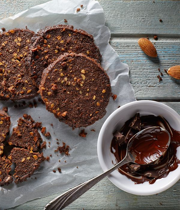 Kruche ciastka kakaowo-migdałowe #lidl #przepis #ciastka #kakao #migdal