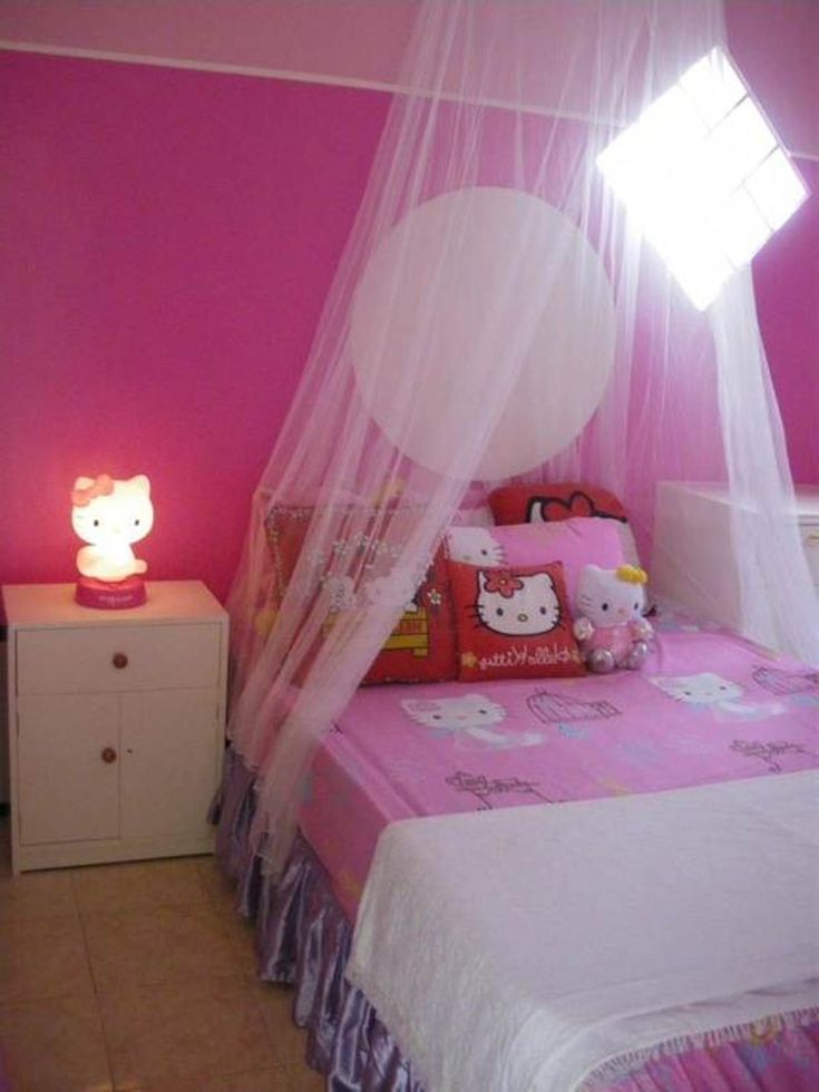 I think kaylea needs a fancy canopy above her bed when she gets her new  room  Hello Kitty. 10 best hello kitty bedroom images on Pinterest