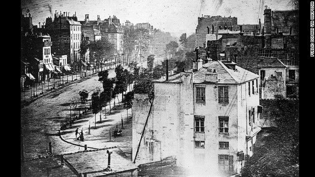The earliest known photograph to show a person, a Paris street scene from 1838, was published online this week.
