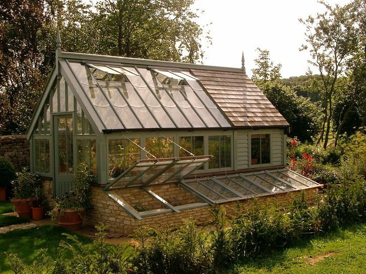 greenhouse with potting shed attached - Google Search #greenhouseideas