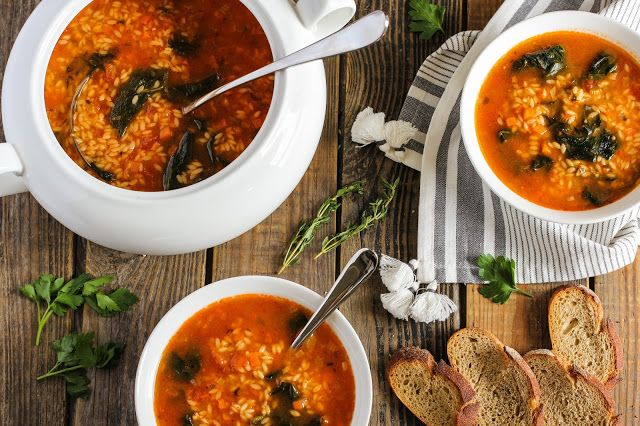 food geek: Итальянский суп с пастой и шпинатом