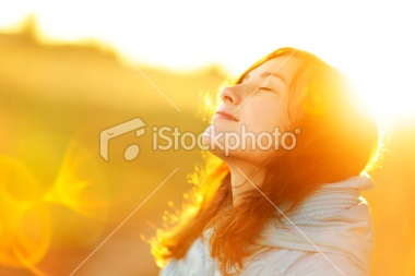 The autumn flower of sun flare. Royalty Free Stock Photo