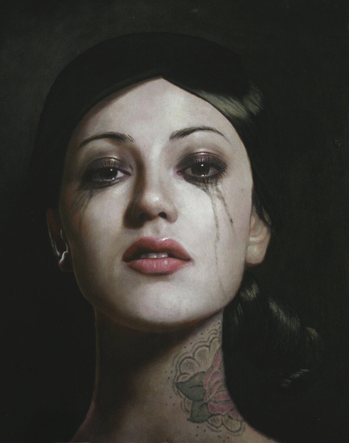 Crying Makeup: Oil Paintings, Art Illustrations, Artists, Eye Makeup, Art Paintings, Art Tattoo, Portraits, Kris Lewis, Krislewis