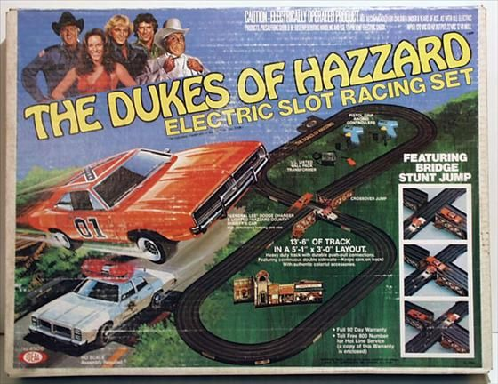 electric slot car race set dukes of hazzard toys