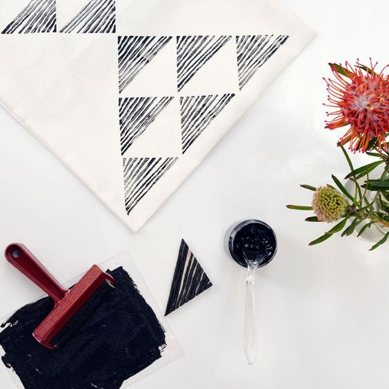 Learn to block print on fabric - DIY Block printing kit from The Crafter's Box