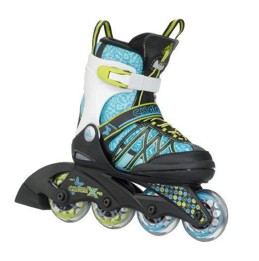 K2 Kinder #Inline Skate Charm X Pro, türkis, L, 3050209.1.1