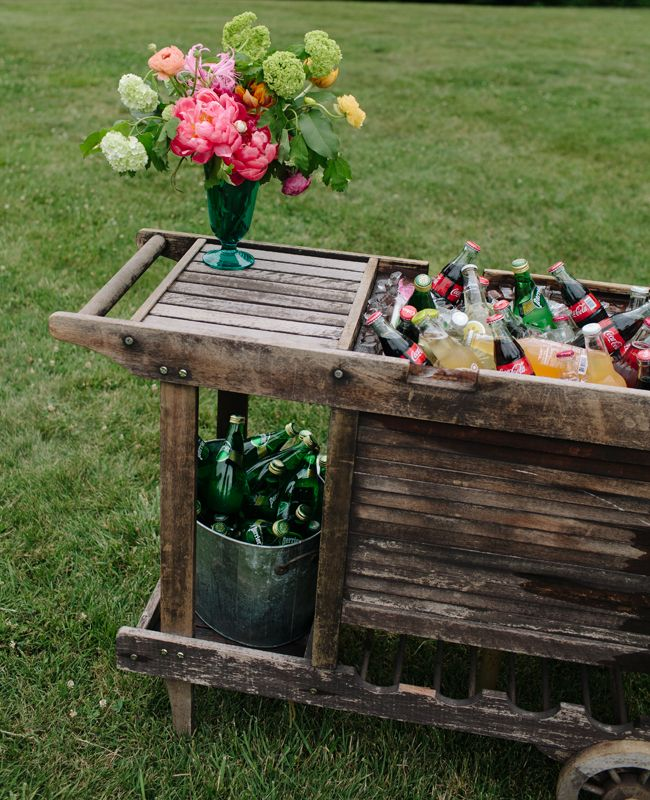 Rustic Bar Cart | Our Labor of Love | blog.TheKnot.com