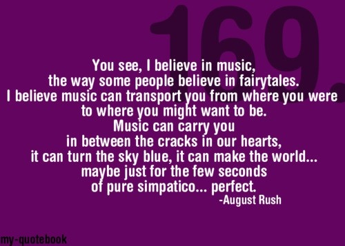August Rush---This is one of my very favorite movies!! If you haven't seen this, it's worth watching!!