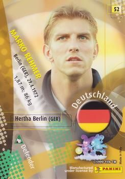 2002 Panini World Cup #52 Marko Rehmer Back