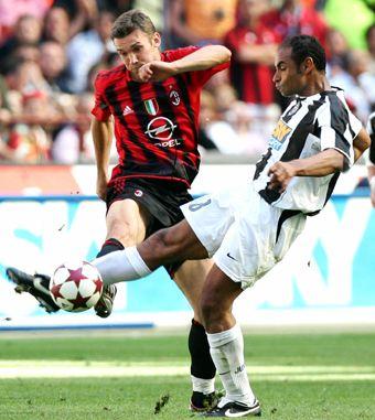 Emerson v AC Milan's Shevchenko