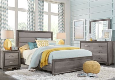 Marlow Gray 5 Pc Queen Panel Bedroom.699.99.  Find affordable Queen Bedroom Sets for your home that will complement the rest of your furniture. #iSofa #roomstogo