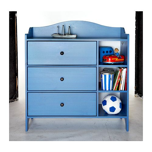 TROGEN Chest IKEA Comes with 3 roomy drawers for storage. Drawer with drawer stop prevents the drawer from being extended fully and falling out.