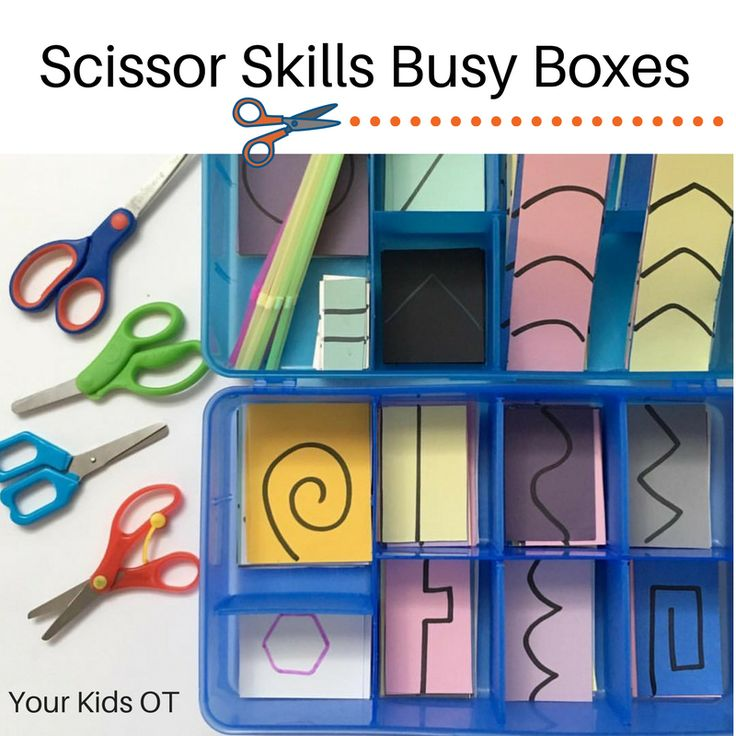 Scissor Skills Busy Boxes: Your Kids OT