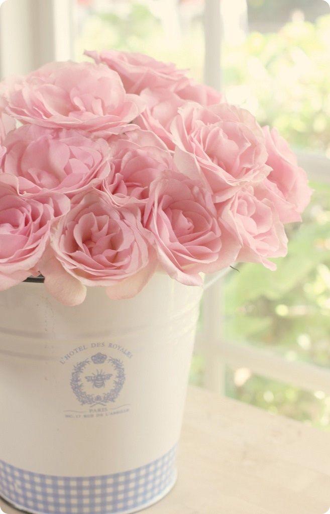 можно ванильные картинки с розами утро