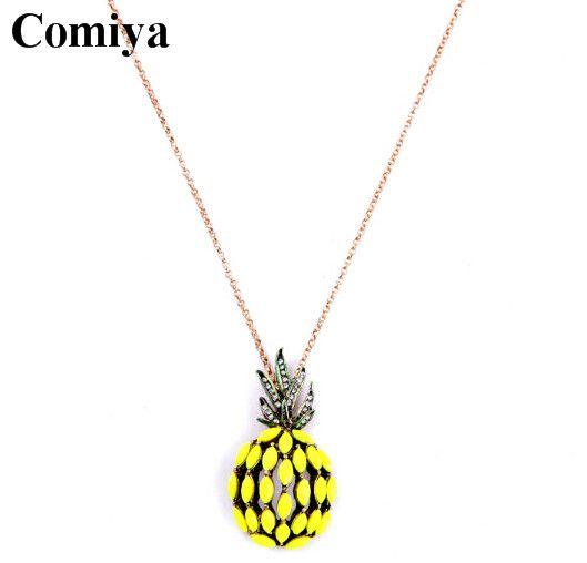 Симпатичные фрукты желтый ананас ожерелья и кулоны свитер цепи длинное ожерелье для женщин бижутерии лето ювелирные аксессуарыкупить в магазине Qingdao Comiya Fashion Jewelry Co., Ltd.наAliExpress