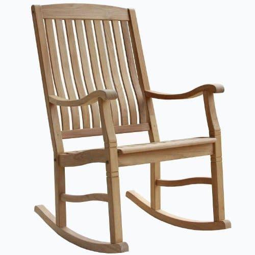 Teak Outdoor Porch Garden Rocking Rocker Chair  Teak Rocking Chair ...