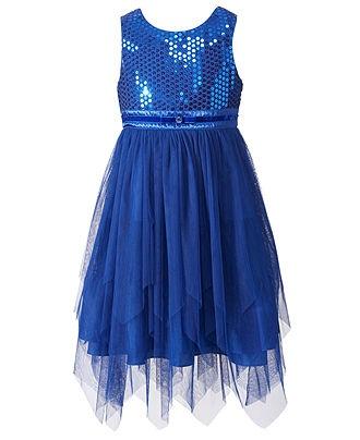 Blue dress for girl toddler