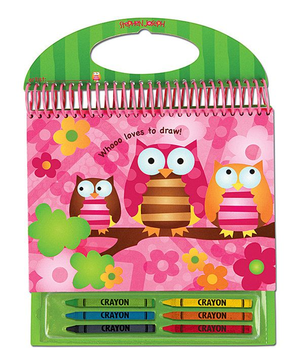 Owl Sketch Pad by Stephen Joseph #zulily #zulilyfinds