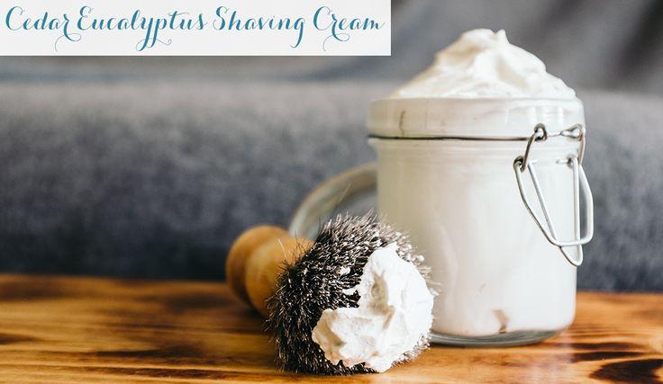 Cedar Eucalyptus Shaving Cream Recipe// Monica Potter's recipe. Totally making this for dad!