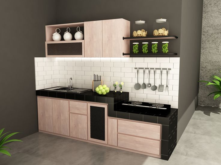 natural teakwood recycled with industrial touch kitchen