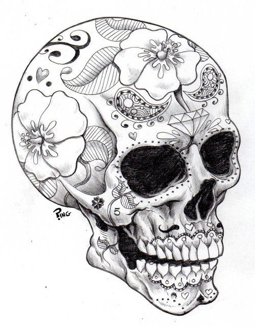 358 best images about sugar skulls,skulls anything i love and ...