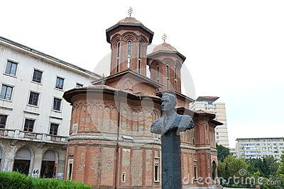 Corneliu Coposu statue near the church Cretulescu, Bucharest, Romania.