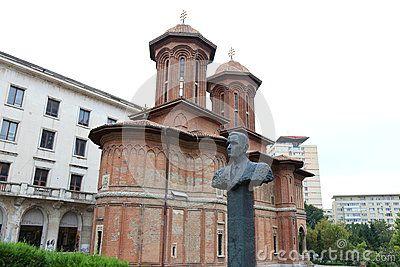 Corneliu Coposu statue near the church Cretulescu, Bucharest, Romania.