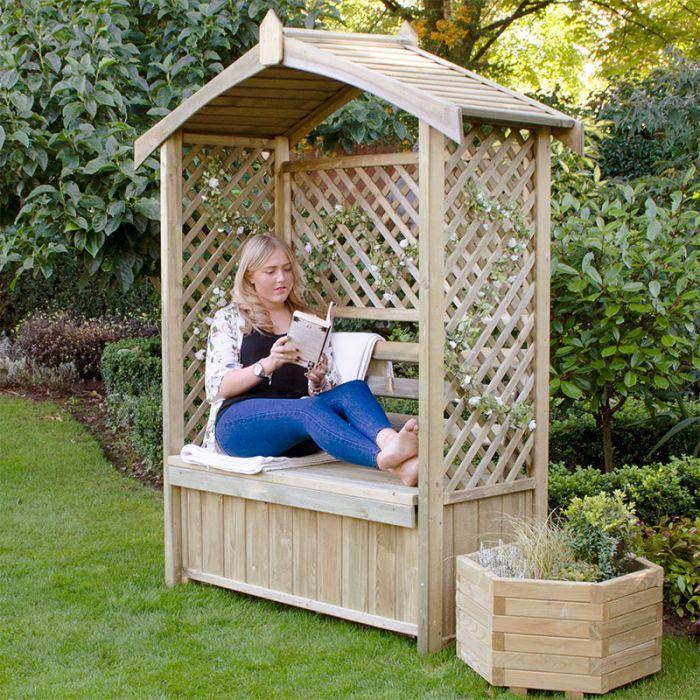 3 seater garden arbour on Forest Lyon Garden Arbour Seat 6 X2 Garden Arbour Seat Garden Arbor Garden Structures