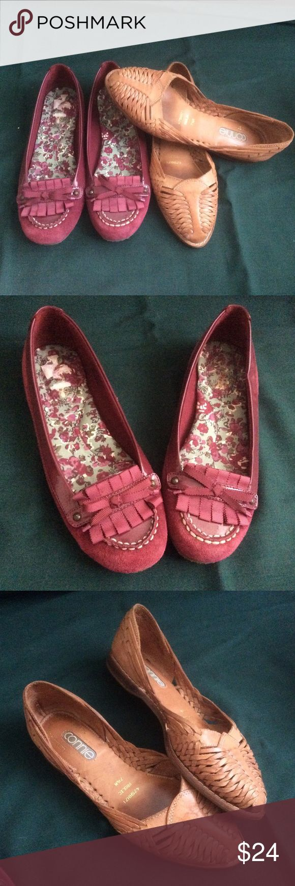 🌱 Sperry Top Sider flats burgundy boater shoes 7 Sperry Top Sider burgundy flats with comfortable cushion and cute front ribbon bow detailing. Only worn once!! Size 7. Sperry Top-Sider Shoes Flats & Loafers