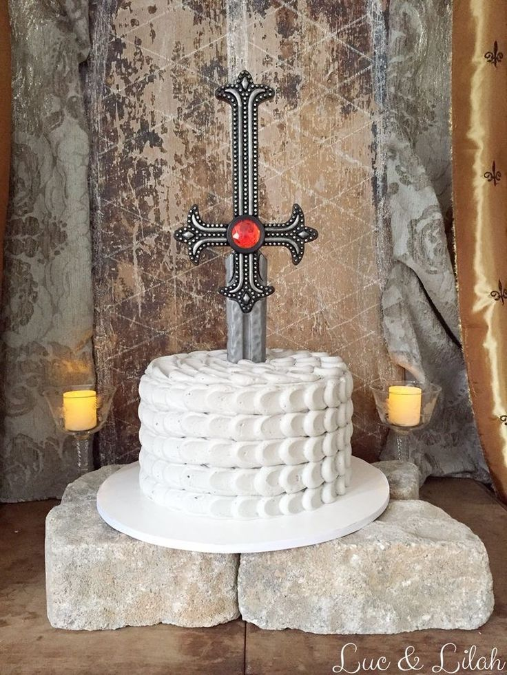 The Perfect Medieval Knight Birthday Cake                                                                                                                                                                                 More