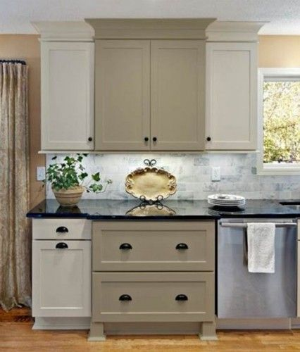 Accent your kitchen with painted kitchen cabinets. This is ...