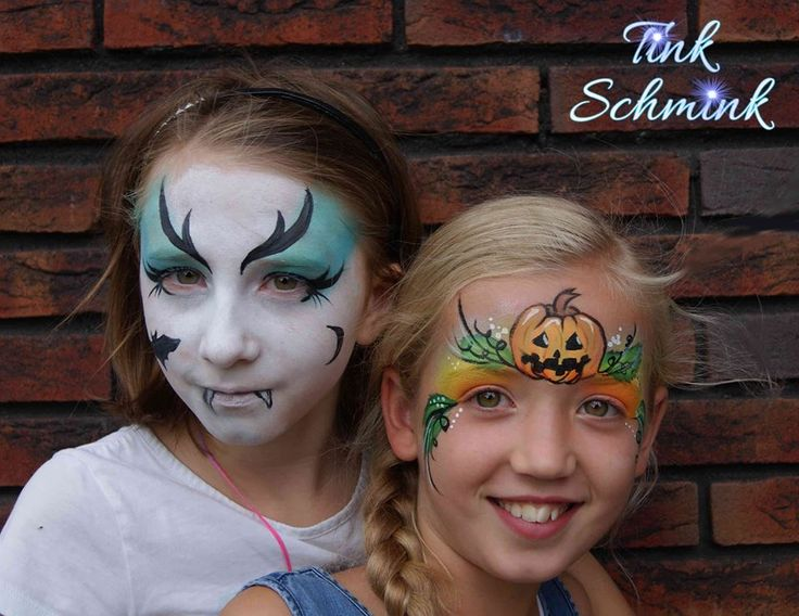 Cute Halloween face paint for kids by Tink Schmink