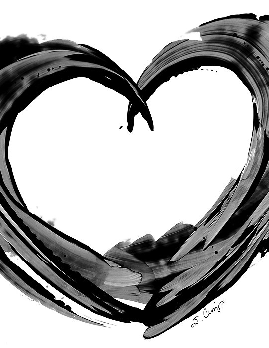Hearts White Lovers Modern Contemporary Abstract Art ...