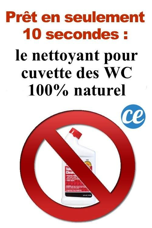 La recette du nettoyant pour la cuvette des WC 100% naturelle