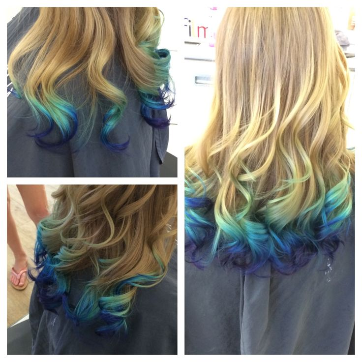 Mermaid ombre-- favorite color I've done to date | Hair ...