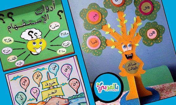 افكار وسائل تعليمية للأطفال لغة عربية وسيلة تعليمية ادوات الاستفهام للاطفال وسيلة تعليمية لدرس أسماء School Activities Valentine Day Crafts Learning Arabic