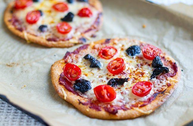 Mini Paleo Crust Pizzas (Nut Free) | Eat Drink Paleo