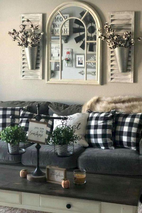 Interesting Grey White Black Living Room Decor Ideas And Remodel 13 Farm House Living Room Farmhouse Decor Living Room Rustic Living Room