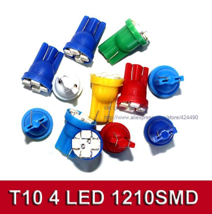 Автомобилей сигналы поворота из светодиодов лампы T10 194 168 W5W 4SMD 3528 из светодиодов 4300 К - 6000 К белый красный сине-зеленые-желтые розовый