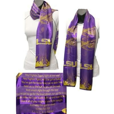 """LSU Tigers - """"Fight for LSU"""" Fight Song Scarf"""