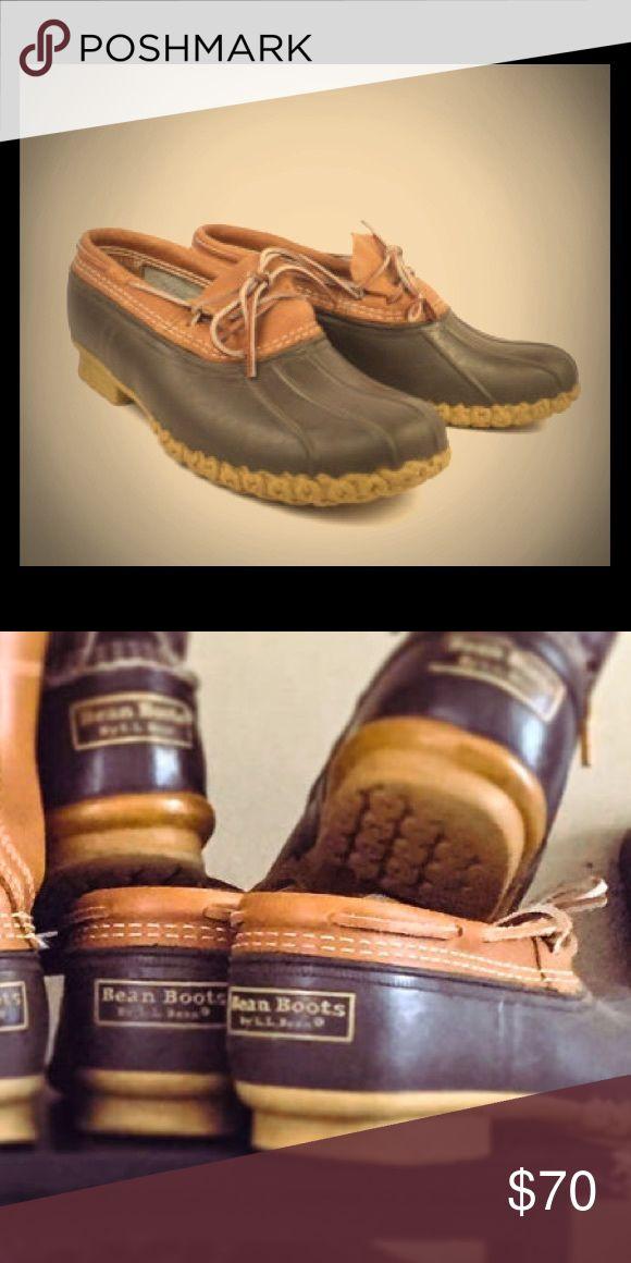 L.L. Bean Leather Rubber Bean Boots Sz 11 L.L. Bean Leather Rubber Bean Boots Sz 11           These boots are used but great condition... they are a men's Sz 9 & run big fits a woman size 11 L.L. Bean Shoes Winter & Rain Boots
