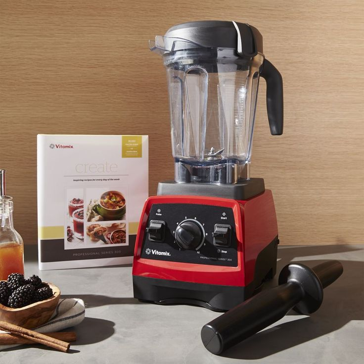 Vitamix ® 300 Professional Blender Ruby Red - Crate and Barrel